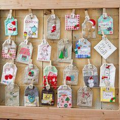 Wonderful advent calendar @ Minki's Work Table.  Minki shares a tutorial on how to make the pocket tags.