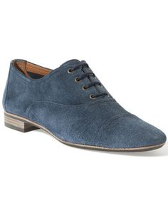 Blue suede oxford by Fratelli Rossetti