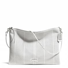 Coach :: BLEECKER DAILY SHOULDER BAG IN PERFORATED LEATHER