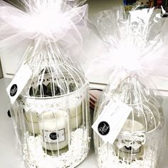 Bird Cages with Candles for Cal State Fullerton Fundraiser