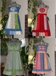 * This is a Made-to-order dress.  Love these patchwork dresses designed and made by someone I went to high school with!