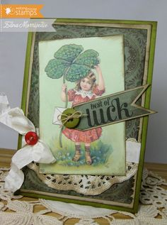 Stamps Paper Happiness: Waltzingmouse Stamps Blog Party: March is all about LUCK!