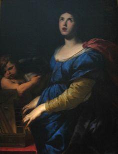 Andrea Vaccaro (1604-1670) Sainte Cécile