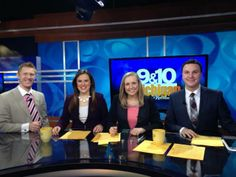 1/17/14  Today we say goodbye to our lovely anchor, Jessica Dupnack. Since it's her last day here on MTM, we naturally seized this opportunity to take one last group photo. Jessica plans to move downstate so she can be closer to friends and family. We'll miss you Jess!