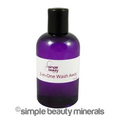 NEW! 3-In-One Wash Away ($15): Harnessing micellar technology, this magic potion acts like a magnet to lift dirt, oil AND makeup from your face and eyes. Get read to sooth, moisturize and soften your skin - No rinsing required! If you want to win a full size bottle for FREE, head to our Facebook page to enter - you'll get a free lotion, too!  https://simplebeautyminerals.com/product/micellar-water/#comment-13837 #micellar #botanicalskincare #vegancleanser