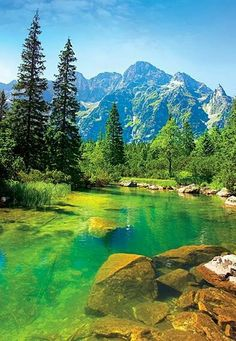 The Tatra Mountains, Poland. My father spoke fondly of the Tatra mountains (he was born just outside Krakow). Places Around The World, Oh The Places You'll Go, Places To Travel, Places To Visit, Beautiful World, Beautiful Places, Beautiful Scenery, Natur Wallpaper, Tatra Mountains