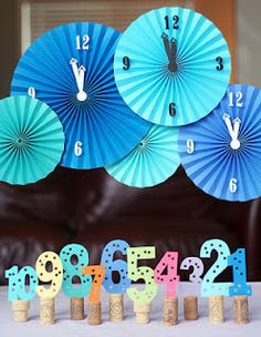 New year's eve  decor - like the countdown numbers on the corks.