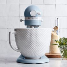 KitchenAid® Limited Edition Heritage Artisan Model K 5-Qt Stand Mixer with Ceramic Hobnail Bowl   Williams Sonoma
