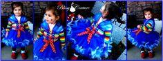 Rainbow Bright Tutu Petti Dress Halloween Costume by www.BlissyCouture.net