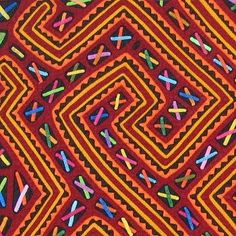 Mola, textile art by the Kuna people. Kuna Yala, San Blas, PanamaPanamaMolaKuna More Pins Like This At FOSTERGINGER @ Pinterest