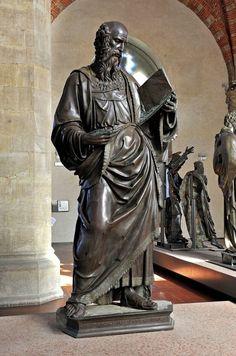 Orsanmichele Church and Museum - Florence. (Гильдия ткачей шелка) Иоанн Богослов Баччо да Монтелупо - 1515