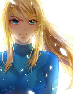Zero Suit Samus. This is gorgeous. I love her badass expressions, but a soft smile is pretty amazing too. :)