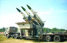Akash Air Defense System for Indian Air Force on trailer and towed by Tata truck