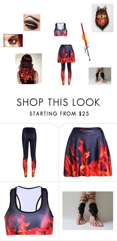 """""""magi! fire djinn Hakan #9"""" by linsey-tracey ❤ liked on Polyvore"""