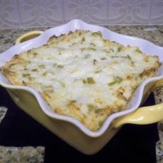 Green Chili Rice Casserole  RECIPE BY   Taste of Home Taste of Home  4 cups rice (cooked) 8 ozs green chilies (chopped) 1/2 tsp salt 3/4 lb monterey jack cheese (cut into 12 inch cubes) 2 cups sour cream