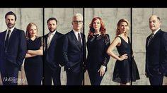 The cast with Matthew Weiner, 2015