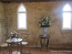 Country/Rustic Ceremony Floral Arrangements at the Peppers Creek Chapel in Hunter Valley