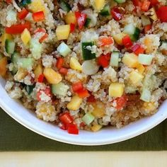 Peach And Pecan Quinoa Salad