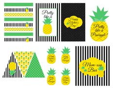 LAURA'S little PARTY: {FREE} Pineapple Themed Printables!