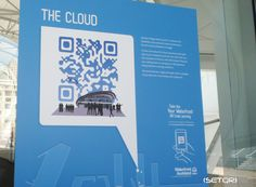 AUCKLAND WATERFRONT The Cloud QR Code Signage