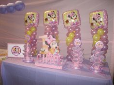 Minnie Mouse Baby Shower Decorations | Minnie Mouse Party Table Decoration Photograph | ... minnie