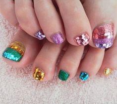 Elegant Toe Nail Art #ToeNailArt