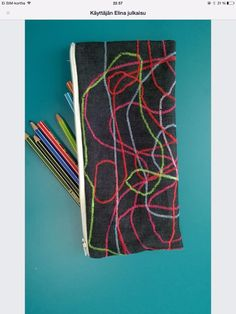 Fabric Crafts, Needlework, Felt, Pouches, Crafting, Couture, Little Things, School, Embroidery