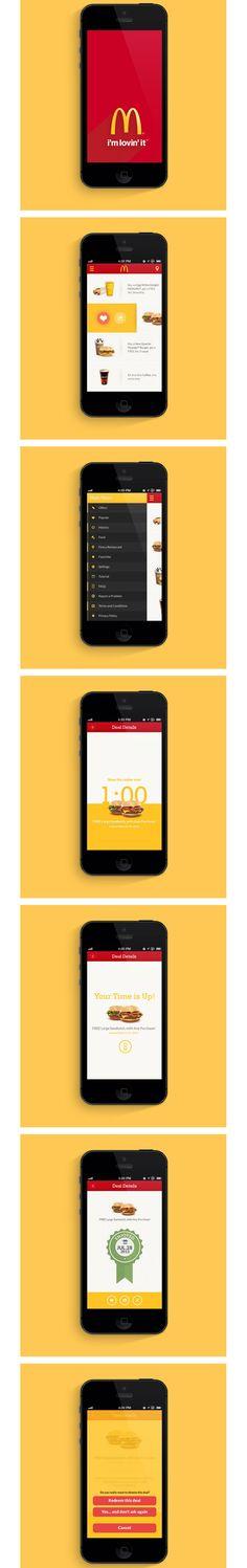 Mc Donald's McD App #mcdonalds #mobile