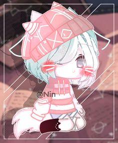 Anime Wolf Girl, Manga Anime Girl, Kawaii Anime Girl, Otaku Anime, Cute Animal Drawings Kawaii, Kawaii Drawings, Cute Drawings, Cute Anime Chibi, Anime Drawings Sketches
