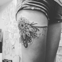 flower and garter tattoo tumblr