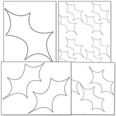 Printable Holly Leaf Template