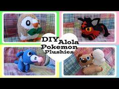 ❤ DIY Alola Pokemon Sock Plushies! How to make Rowlet, Litten, Popplio and Rockruff! ❤ - YouTube
