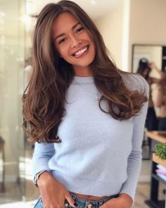 51 Gorgeous Hair Color Worth To Try This Season - balayage hair color, fabmood, light brown hair color ideas, hair colours 2019 hair color tren - Golden Brown Hair, Light Brown Hair, Light Blue, Light Chocolate Brown Hair, Chesnut Brown Hair, Mousy Brown Hair, Chocolate Hair, Medium Brown Hair Color, Brown Hair Colors