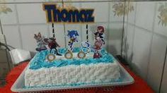 Bolo do sonic quadrado Bolo Sonic, Cake, Desserts, Cake Ideas, Decorating Cakes, Kids Part, Creativity, Tailgate Desserts, Deserts