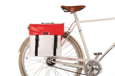 PUBLIC Farmers Market Twin Panniers - a must for toting groceries and treats home for the pup and the boy!