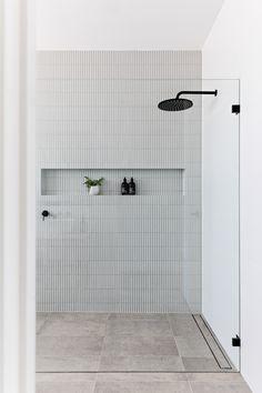 Modern Bathroom Tile, Bathroom Renos, Laundry In Bathroom, Bathroom Interior Design, Bathroom Renovations, Home Renovation, Bathroom Tapware, Minimal Bathroom, Bathroom Floor Tiles