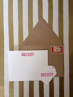 Secret Agent Card Set, hand stamped and embossed by RHCollection, $7.00