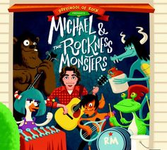 'Michael and the Rockness Monsters' Preschool of Rock's Michael Napolitano Band Debut  ** Follow me on www.MommasBacon.com **