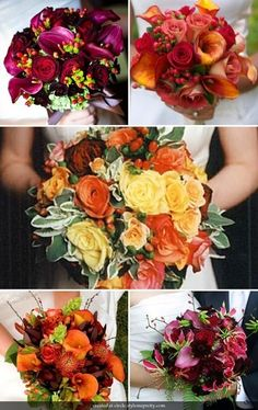 fall wedding bouquets..for anyone having a fall wedding