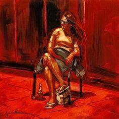 """""""Plaza Sun"""" - Original Fine Art for Sale - © Karin Jurick"""