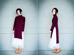 Get this look: http://lb.nu/look/8015086  More looks by Natalie Tien: http://lb.nu/nataliec1128  Items in this look:  Bershka Wind Red Knit Wear   #chic #edgy #romantic