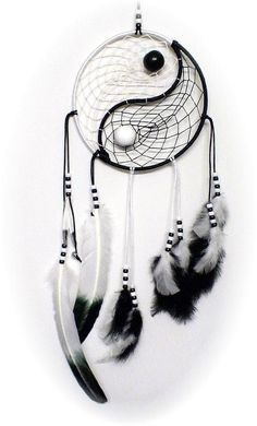 This Yin yang dream catcher would be perfect for my room.