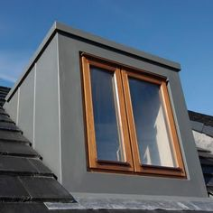 GRP Flat roof dormer, to replicate a lead effect: