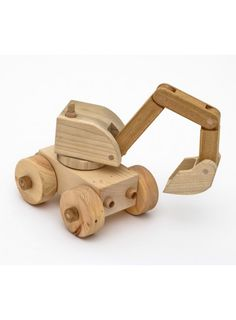 Beautiful handcrafted wooden Toy Digging Machine – Spid - Eco Wooden Toy from… Wooden Toy Trucks, Wooden Car, Wood Toys Plans, Making Wooden Toys, Wood Games, Wooden Puzzles, Diy Toys, Handmade Toys, Cool Toys