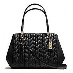 Cool textures!  Coach :: Madison Madeline East/west Satchel In Gathered Chevron Leather