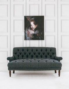 Grange Harris Tweed Sofa in Granite. Love this sofa!