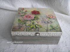 Nie tylko róże...: decoupage pudełka