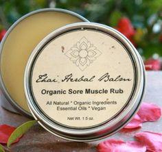Thai Herbal Balm  Organic Sore Muscle Rub by unearthmalee