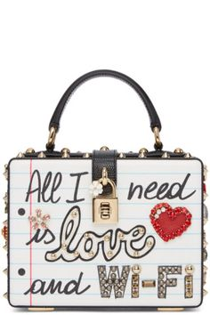 Dolce   Gabbana  Multicolor East West  All I Need Is Love And Wifi 2e89ec58277