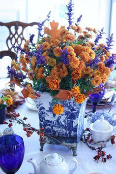Autumn High Tea table setting
